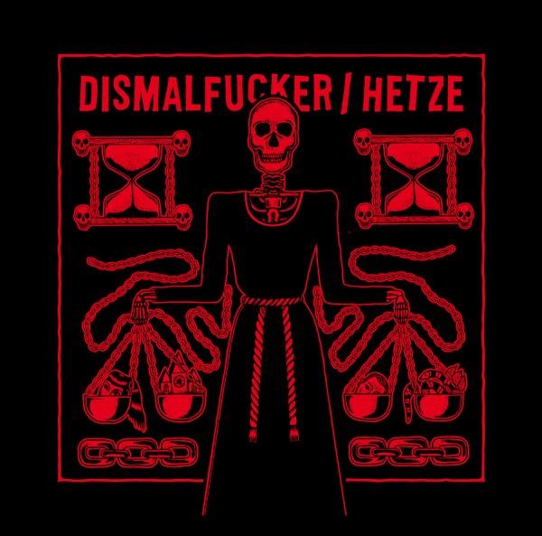 Dismalfucker vs. Hetze - split LP