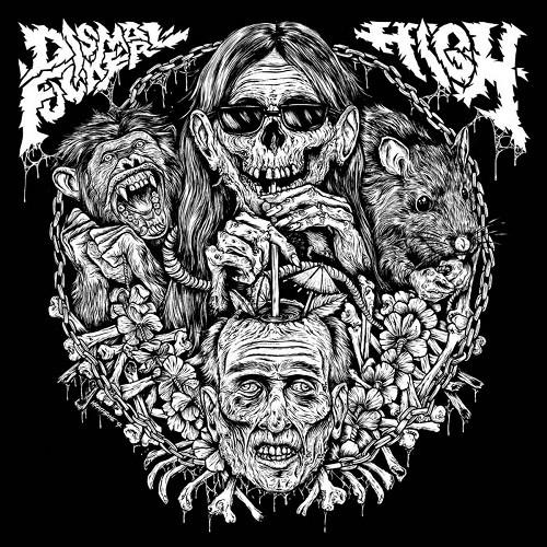 High vs. Dismalfucker - split LP
