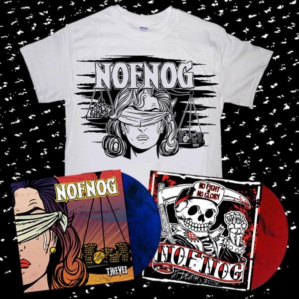 "NOFNOG - thieves 12"" + at death's door 12"" + T-shirt white - allstar combo"